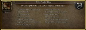 Archaeology Artifact Appearance Now Acc-Wide!