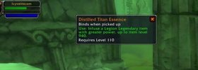 Illidan Quest NOT Linked to Legendary Upgrades