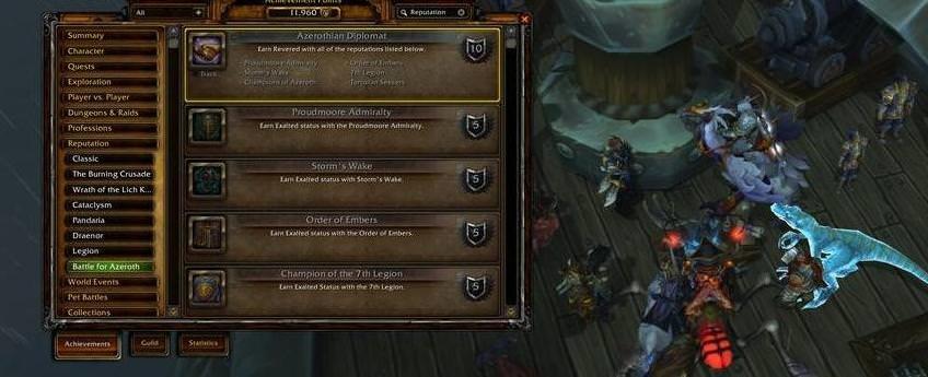 Account-wide Rep Achieves, Ele Shaman, WoW Token
