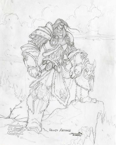 """Prince Arthas Concept Art Print 8"""" x 10"""", From the Vault - Limited Release.jpg"""